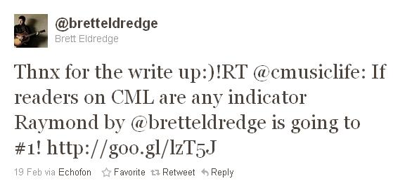 Brett Eldredge Tweet