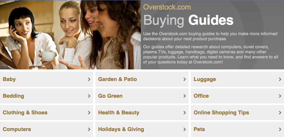 Overstock Guides