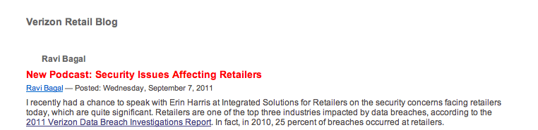 Verizon Retail Blog