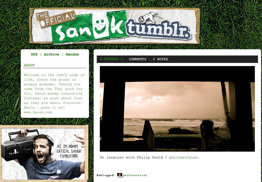 Sanuk Tumblr