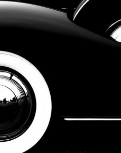 Black and White Car