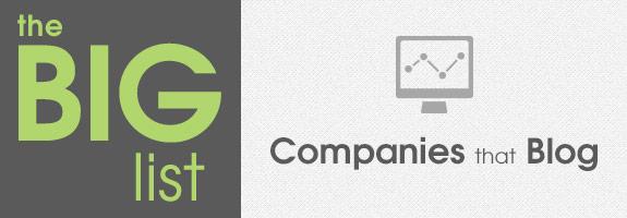 Companies That Blog