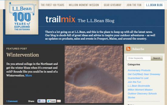 LL Bean Blog
