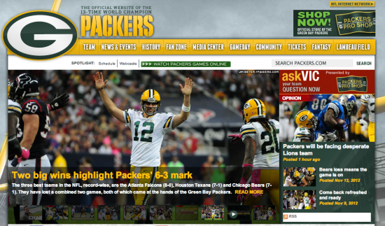 Packers Homepage
