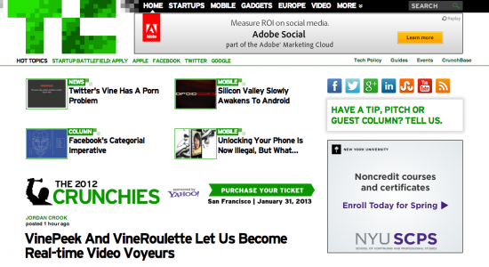 Best Business Blogs TechCrunch