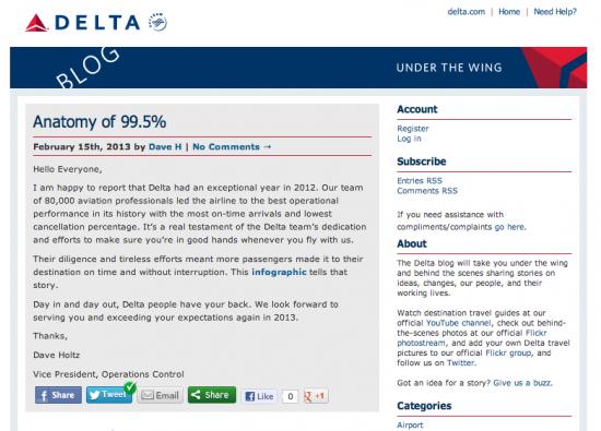 Delta Blog