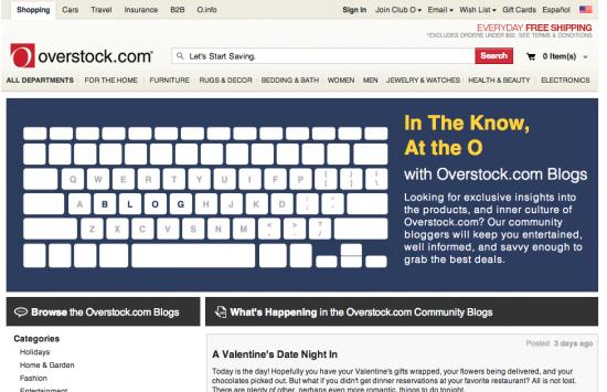 Overstock Blog