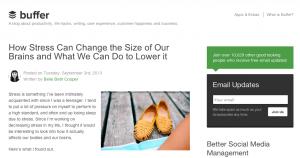 Buffer Blogging Strategy