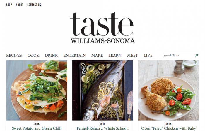 10 - Williams-Sonoma Blog