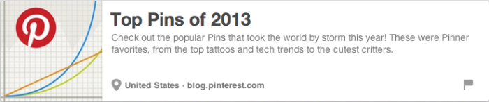 Top Pins Of 2013