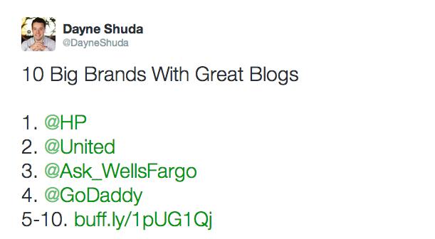 Big Brands Retweets