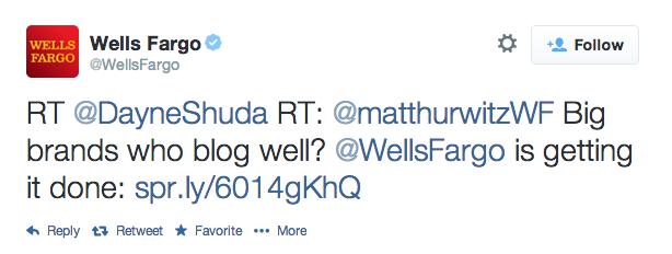 Wells Fargo Retweet