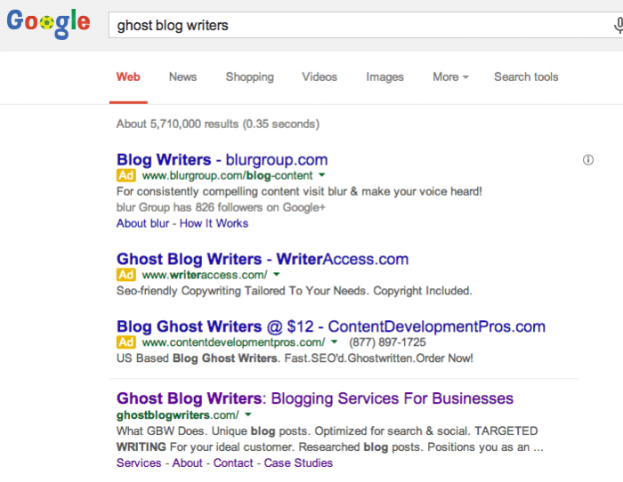 Ghost Blog Writers Search Result