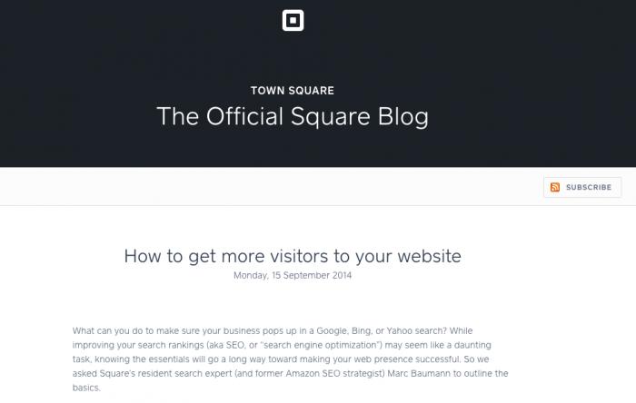 Square Blog Analysis
