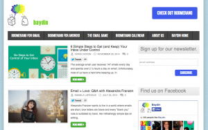 Baydin Boomerang Blogging