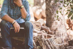 sitting-thinking