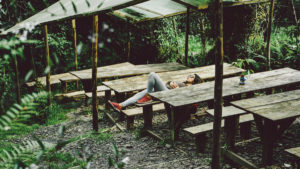 Napping Picnic Table