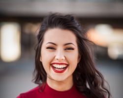 Red Smile Woman