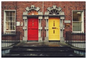 Red and Yellow Doors