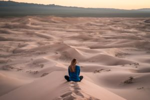 Sitting In The Desert