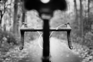Old Black and White Bicycle